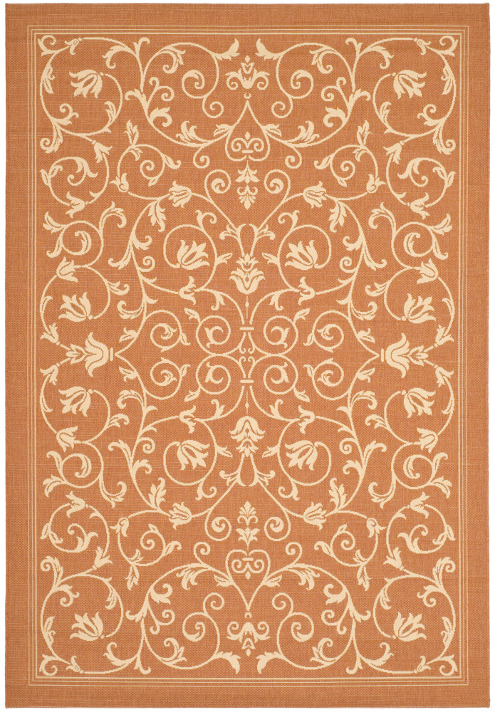 Safavieh Courtyard Cy2098-3202 Terracotta - Natural Area Rug| Size| 2'4''X6'7'' Runner - 98719x3