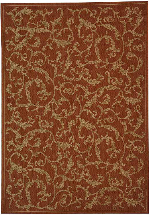 Safavieh Courtyard Cy2653-3202 Terracotta - Natural Area Rug| Size| 2' X 3' 7'' - 98739x1