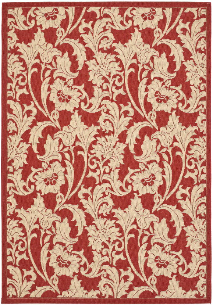 Safavieh Courtyard Cy6565-28 Red - Creme Area Rug| Size| 4' X 5' 7'' - 98984x2