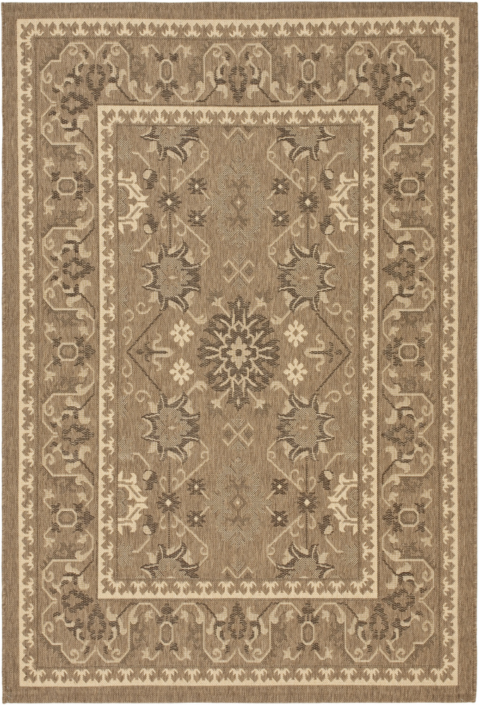 Safavieh Courtyard Cy6727-204 Chocolate - Cream Area Rug| Size| 4' X 5' 7'' - 99007x1