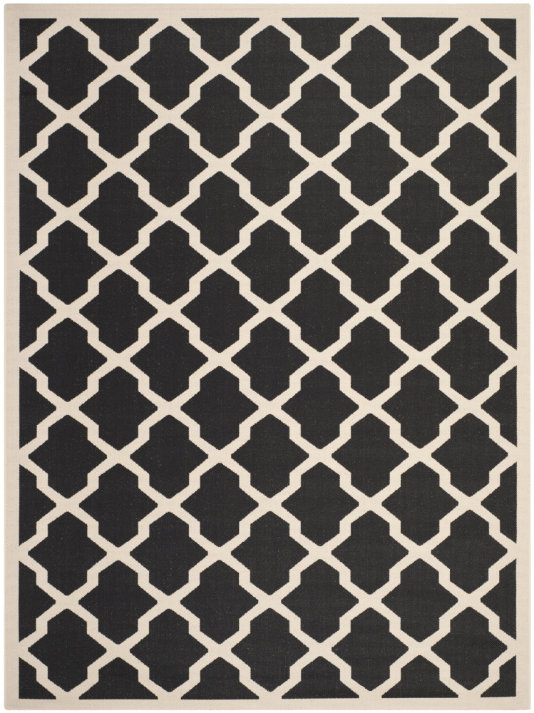 Safavieh Courtyard Cy6903-266 Black - Beige Area Rug| Size| 5' 3'' X 5' 3'' Square - 99027x13