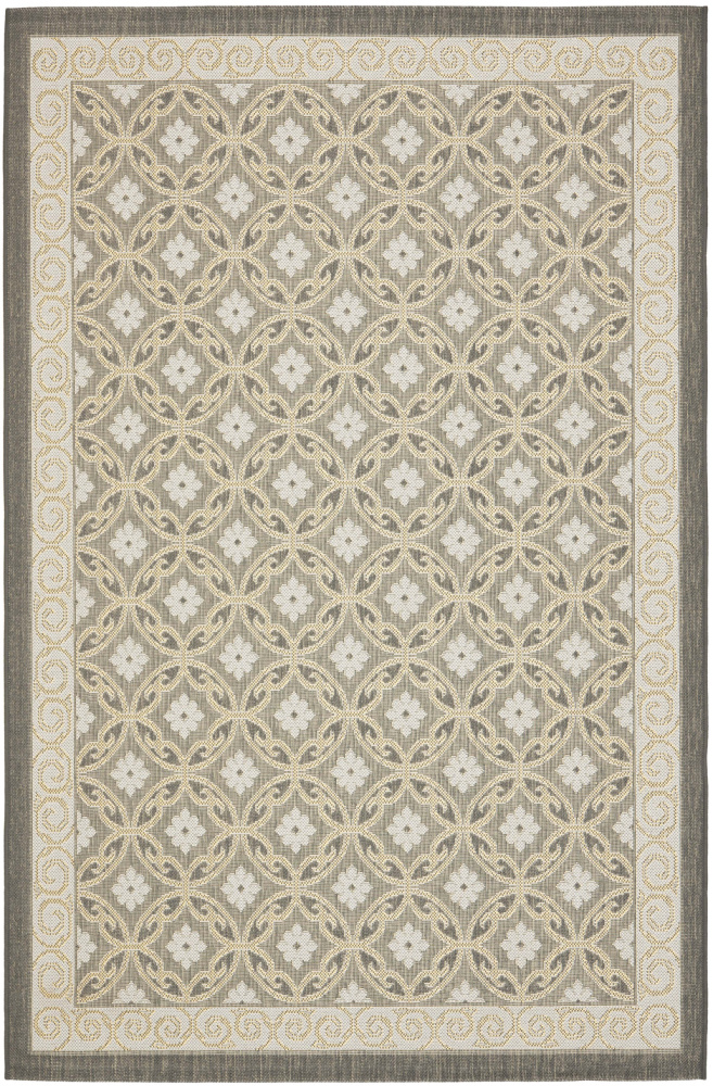 Safavieh Courtyard Cy7810-87a21 Anthracite - Light Grey Area Rug| Size| 5' 3'' X 7' 7'' - 99137x2