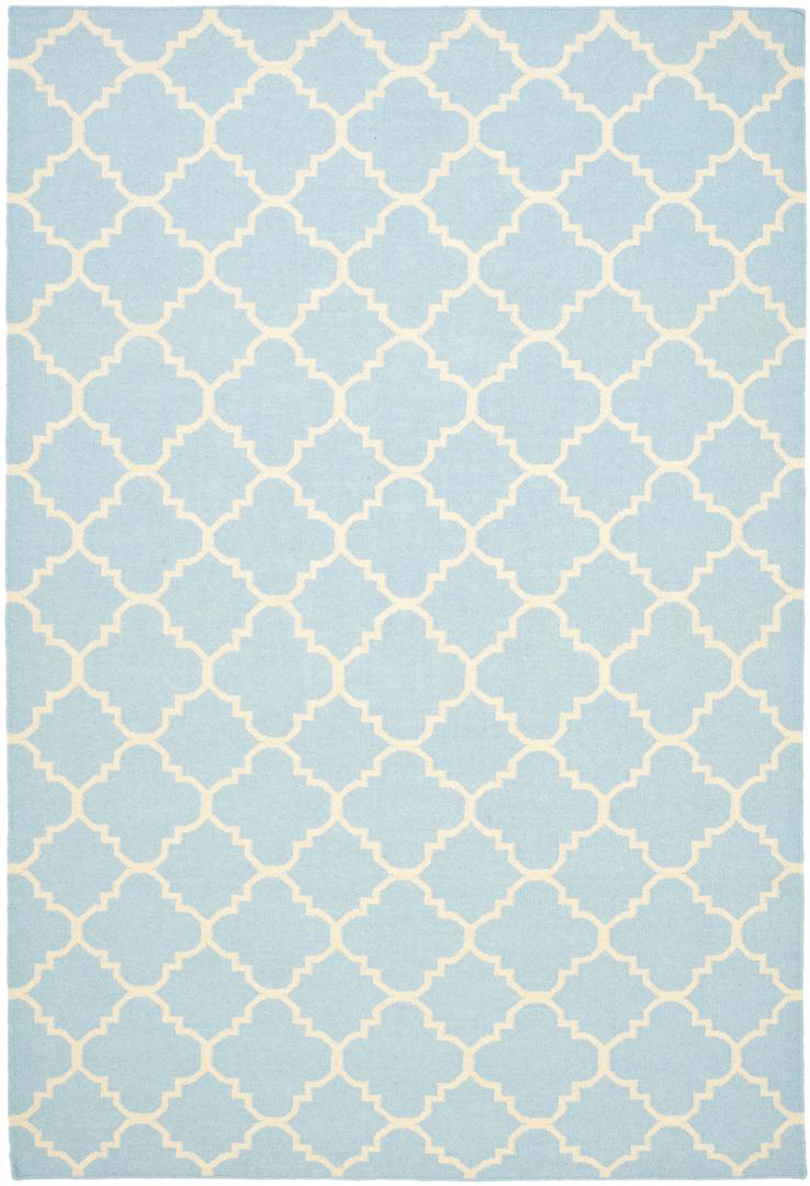 Safavieh Dhurries Dhu554b Light Blue - Ivory Area Rug| Size| 2' 6'' X 4' - 63134x15