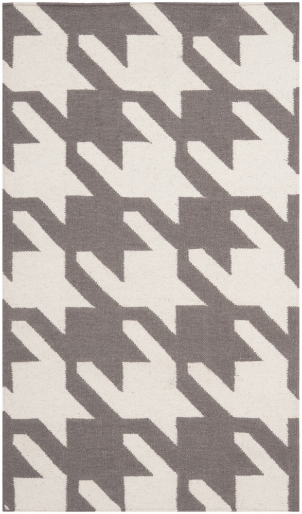 Safavieh Dhurries DHU569A Grey - Ivory Area Rug| Size| 3' X 5' - 80577x2