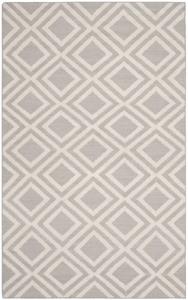 Safavieh Dhurries Dhu571a Grey - Ivory Area Rug| Size| 2' 6'' X 4' - 107984x7