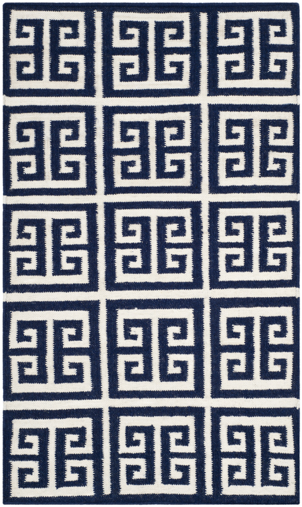 Safavieh Dhurries Dhu626d Navy - Ivory Area Rug| Size| 2' 6'' X 4' - 94384x1