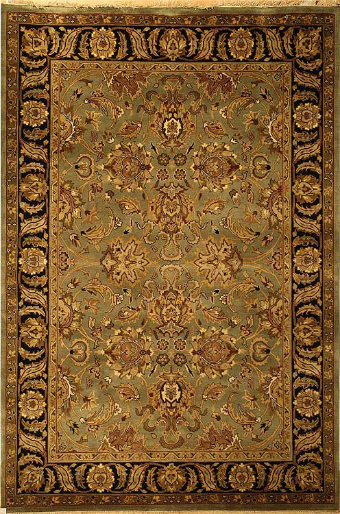 Safavieh Dynasty DY253A Green - Black Area Rug| Size| 2'6''X12' Runner - 46671X4