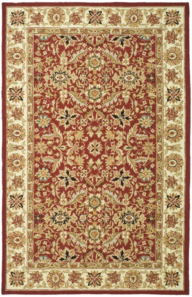 Safavieh Chelsea HK157A Red - Ivory Area Rug Clearance| Size| 3' X 3' Round - 49899X5