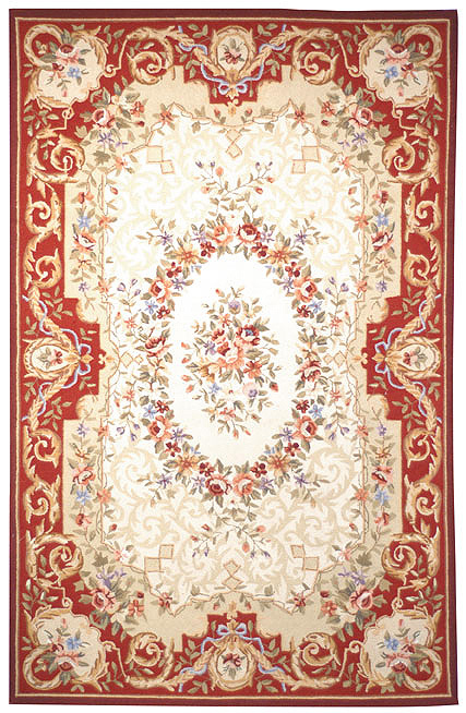 Safavieh Chelsea HK75A Ivory - Red Area Rug Clearance| Size| 5' 3'' X 8' 3'' - 46474X14