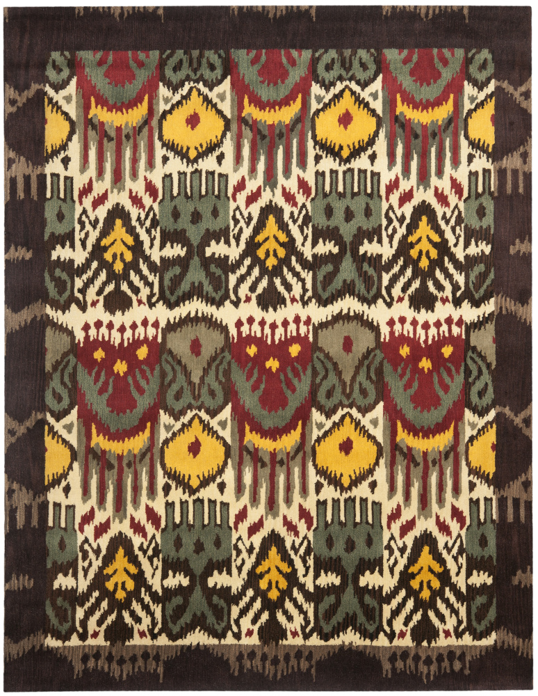Safavieh Ikat IKT217A Creme - Brown Area Rug| Size| 2'3''X8' Runner - 80656x1