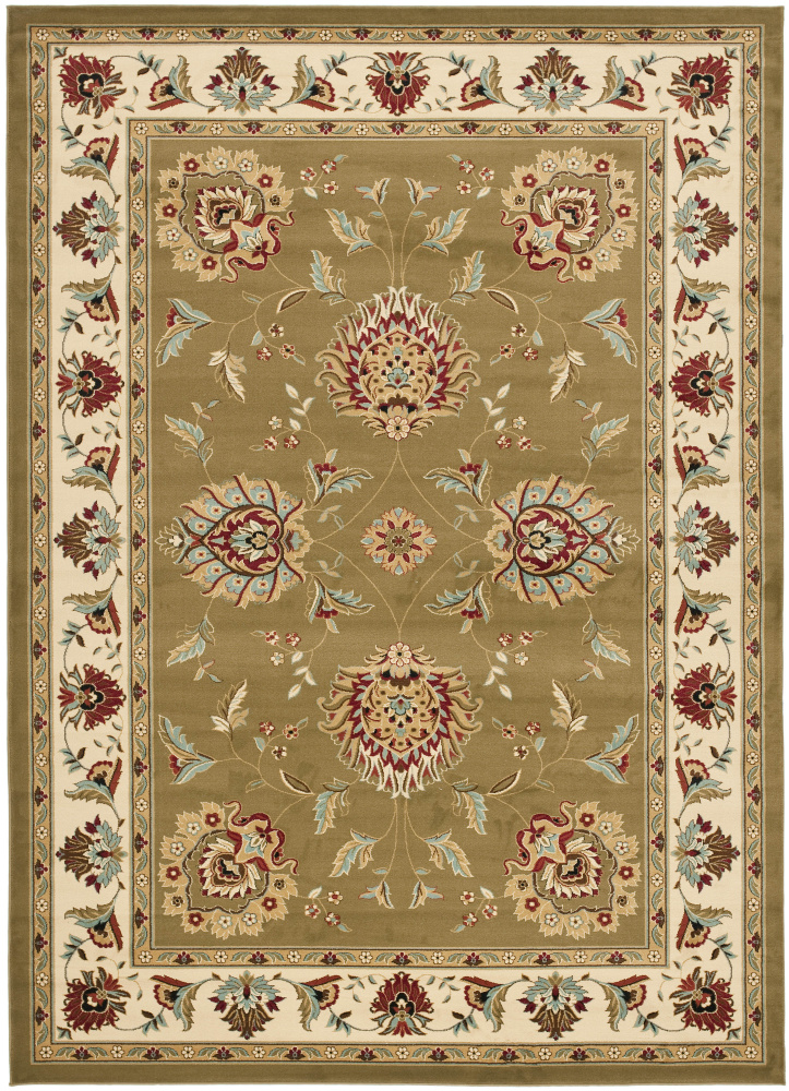 Safavieh Lyndhurst Lnh555 Green - Ivory Area Rug| Size| 6' 7'' X 6' 7'' Square - 63168x9