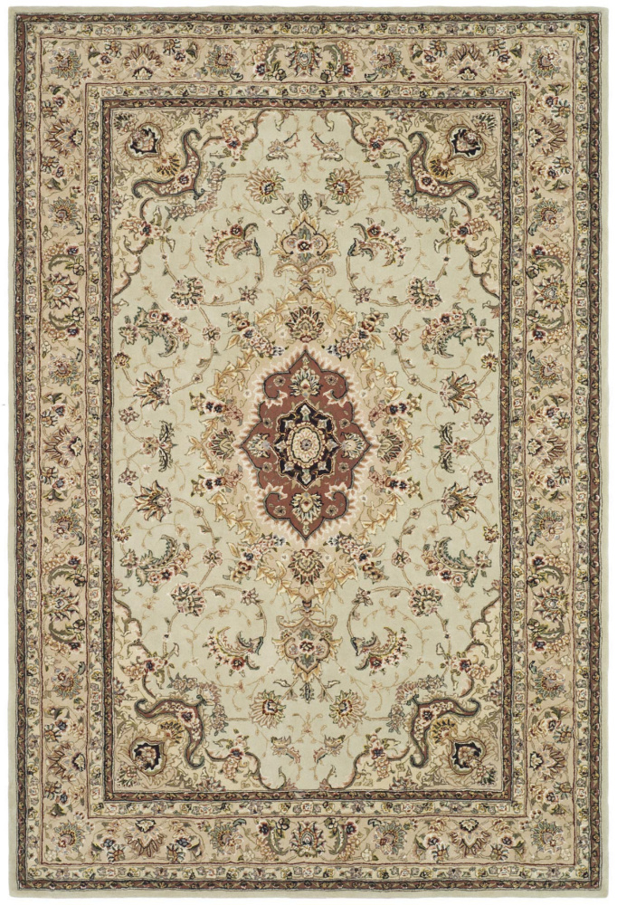 Safavieh Persian Court PC129A Light Green - Beige Area Rug Clearance| Size| 6' X 9' - 50165X6