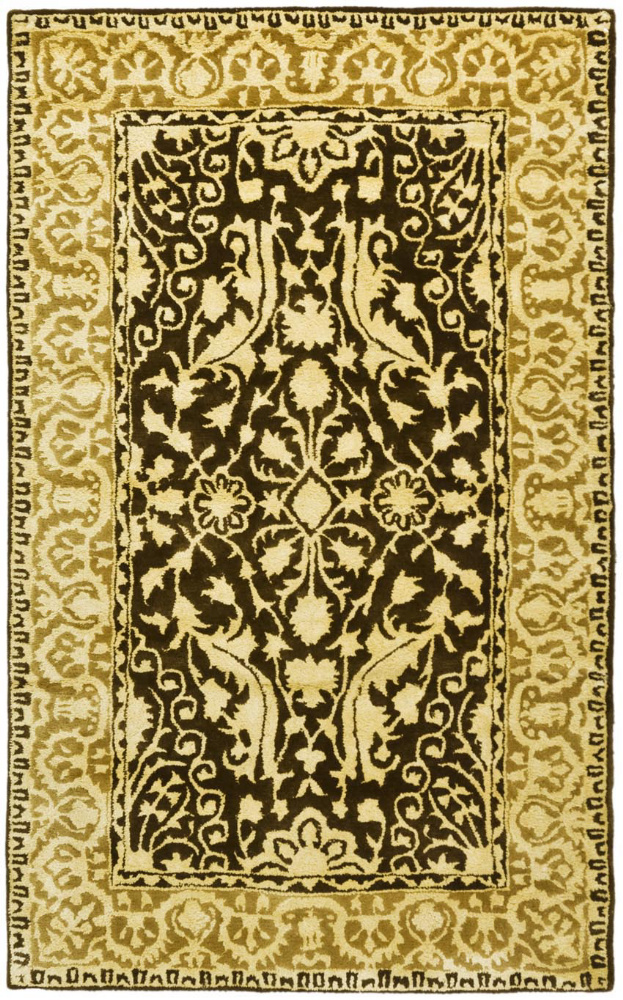 Safavieh Silk Road Skr213f Brown - Ivory Area Rug| Size| 2' X 3' - 61157x1