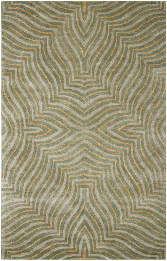 Safavieh Soho SOH382A Blue - Ivory Area Rug| Size| 6' X 6' Square - 80870x6
