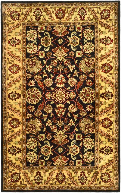 Safavieh Golden Jaipur GJ250D Black - Gold Area Rug Clearance| Size| 3' 6'' X 3' 6'' Round - 49829X9