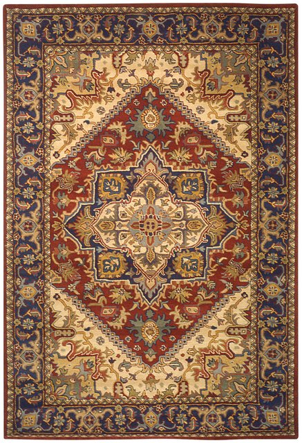 Safavieh Heritage HG625A Red Area Rug Clearance| Size| 3' 6'' X 3' 6'' Round - 49852X10