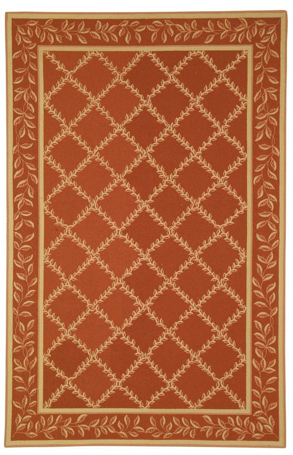 Safavieh Chelsea HK230E Rust - Gold Area Rug| Size| 4' X 4' Round - 46376X6