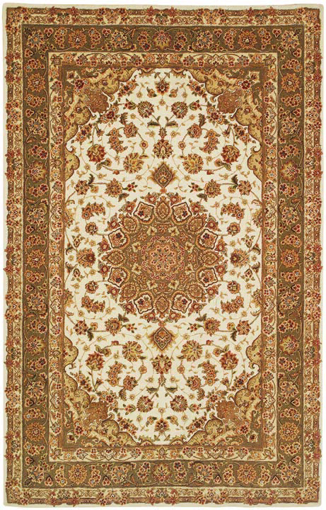 Safavieh Persian Court PC102B Ivory-Olive Area Rug Clearance| Size| 6' X 6' Round - 50147X11