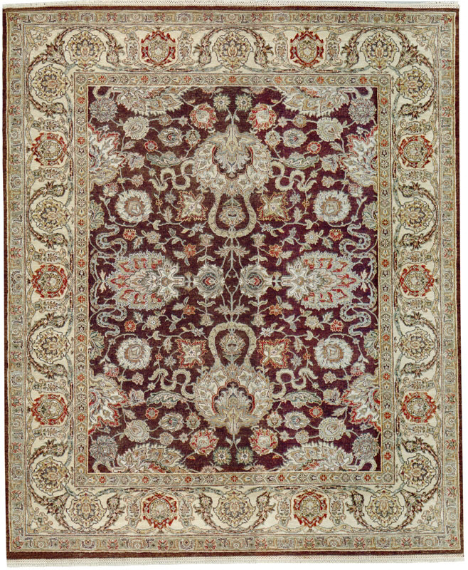 Samad Sovereign Charlemagne Chocolate-Ivory Area Rug Clearance| Size| 6 X 9 - 64354x3