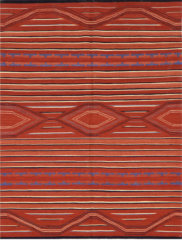 Samad Navajo TS-13 Red Area Rug Clearance| Size| 4' X 6' - 64936x2