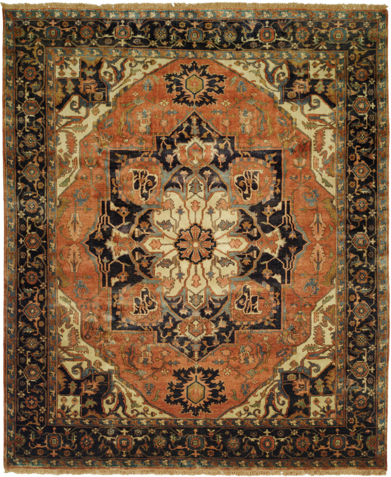 Shalom Brothers Jules Serapi Js-554 Antique Wash Finish Area Rug| Size| 4' x 6' - 107639x2