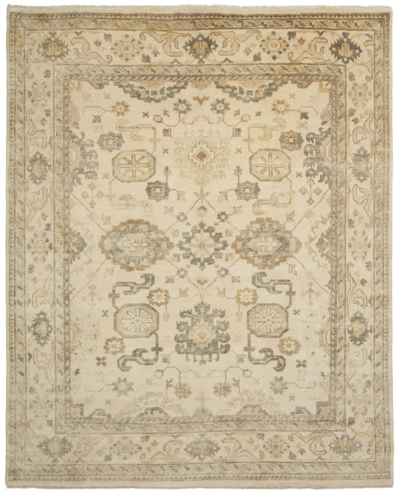 Shalom Brothers Oushak Ou-41 Antique Wash Finish Area Rug| Size| 4' x 6' - 107649x5