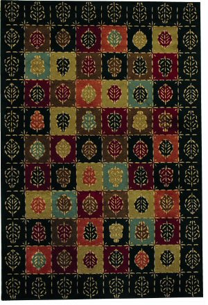 Rugstudio Famous Maker 38115 Ebony Area Rug Last Chance