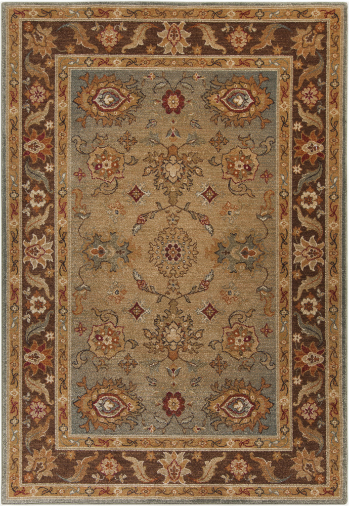 Surya Arabesque ABS-3011 Chocolate Area Rug| Size| 7'10'' x 9'10'' with Free Pad - 105958x5