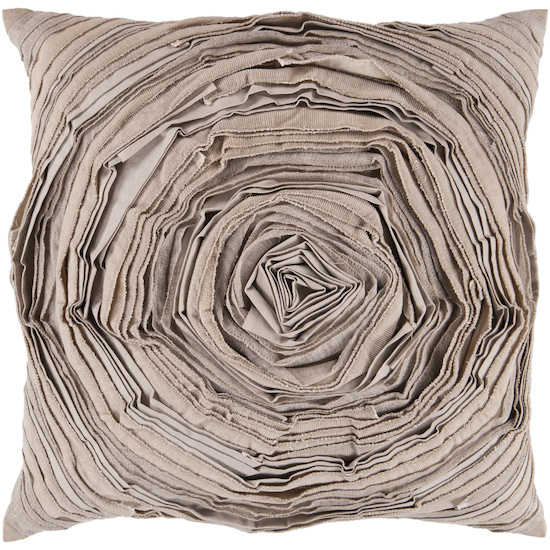 Surya Pillows AR-002 Beige Clearance| Size| 18'' x 18'' Polyester Filled - 73570x2