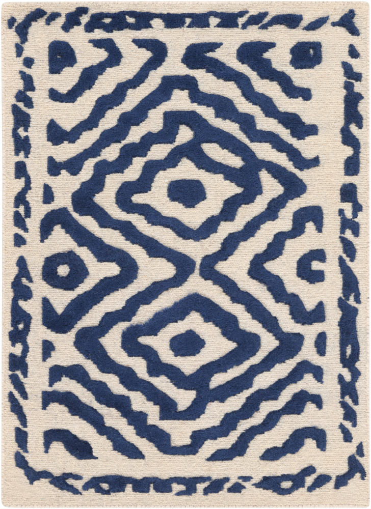 Surya Atlas ATS-1002 Sapphire Blue Area Rug| Size| 18'' Returnable Sample Swatch - 87965x1