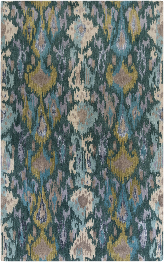 Surya Banshee Ban-3351 Teal Area Rug| Size| 5' x 8' with Free Pad - 110864x4