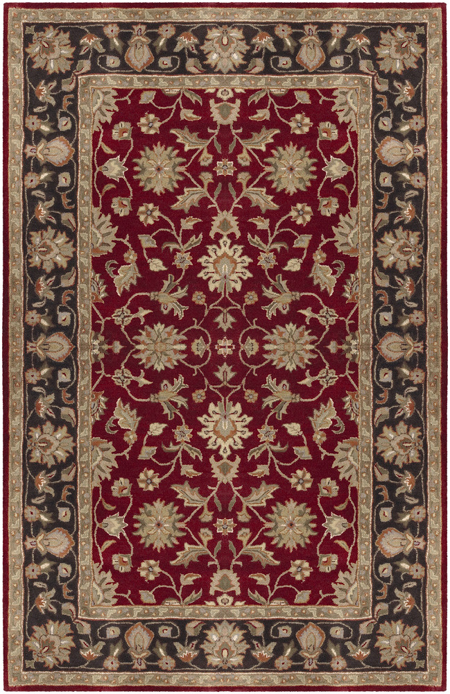 Surya Crowne CRN-6013 Burgundy Area Rug| Size| 1'6''X1'6'' Returnable Sample Swatch - 24018x10