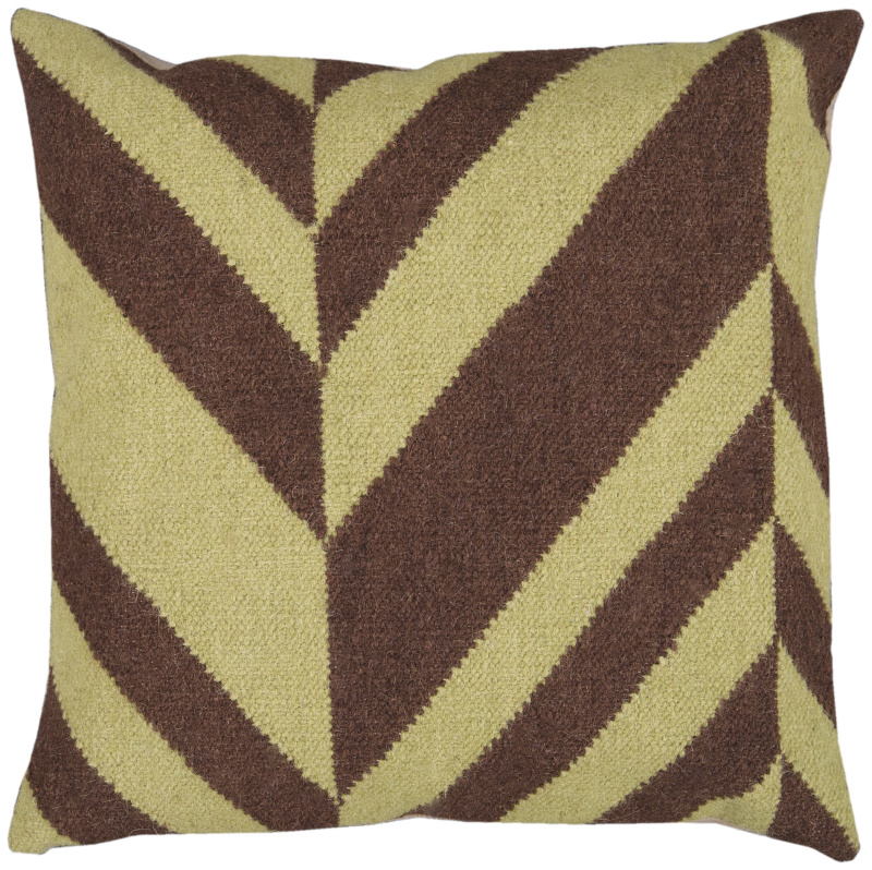 Surya Pillows FA-031 Chocolate- Olive Clearance| Size| 18'' x 18'' Polyester Filled - 62413x2