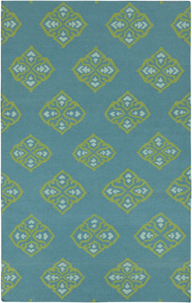 Surya Frontier FT-371 Turquoise Area Rug Clearance| Size| 6'' Returnable Sample Swatch - 88337x6