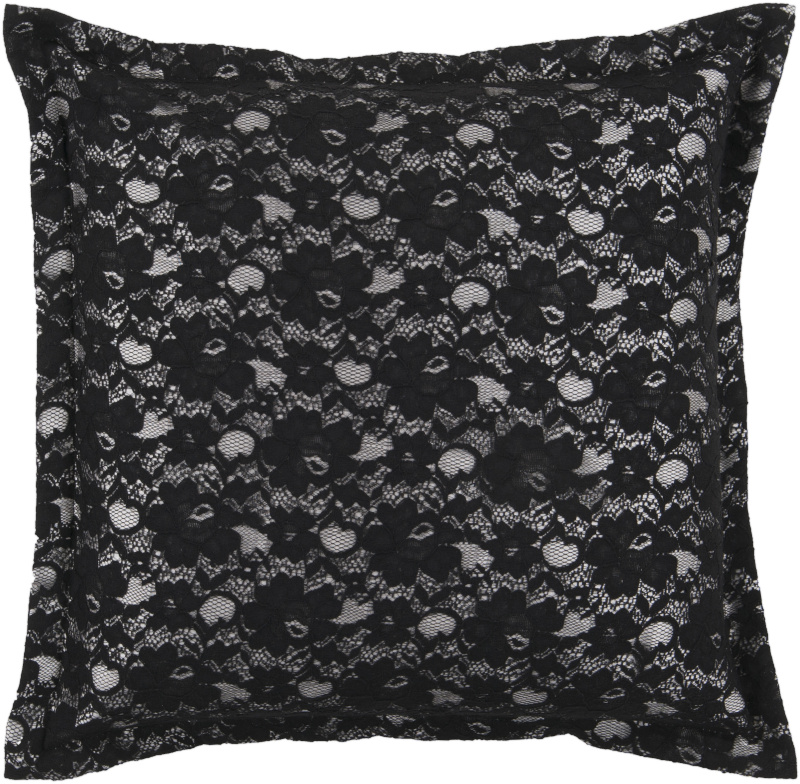 Surya Pillows HCO-606 Black Clearance| Size| 18'' x 18'' Polyester Filled - 62447x2