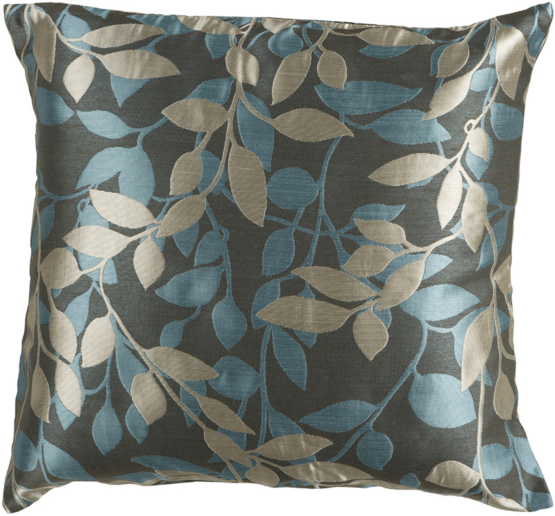 Surya Pillows HH-059 Charcoal-Teal| Size| 18'' x 18'' Polyester Filled - 62486x2