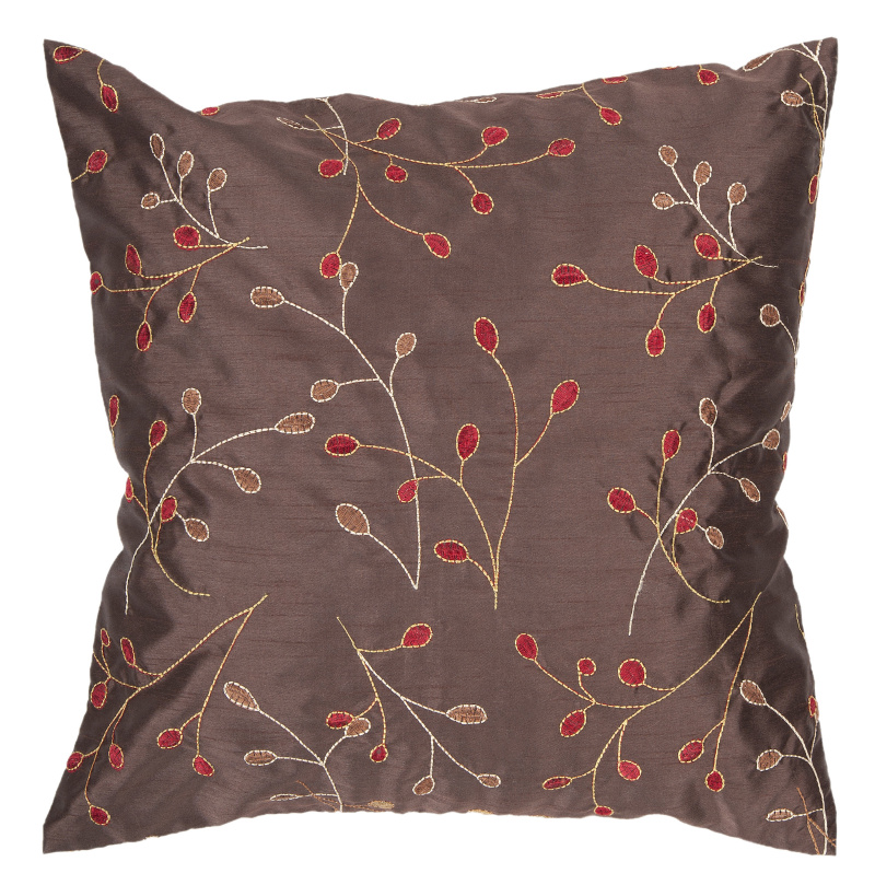 Surya Pillows HH-094 Chocolate| Size| 18'' x 18'' Polyester Filled - 62505x2
