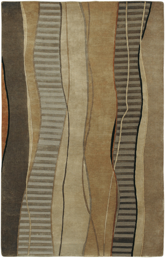 Surya Mugal IN-8020 Cocoa Black Area Rug Clearance| Size| 1'6''X1'6'' Returnable Sample Swatch - 20100x6
