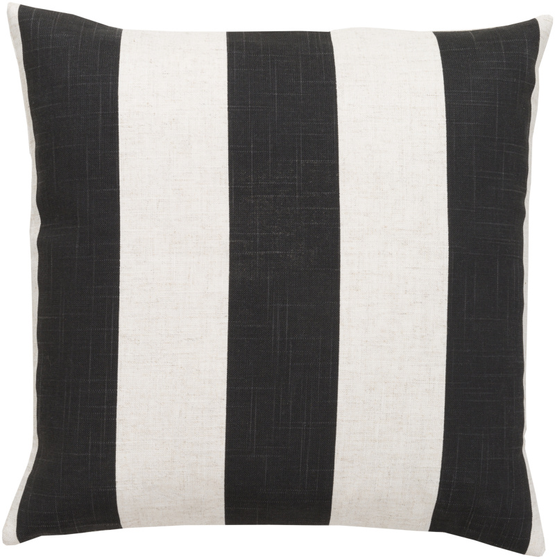 Surya Pillows JS-009 Black-Ivory| Size| 18'' x 18'' Polyester Filled - 62518x2