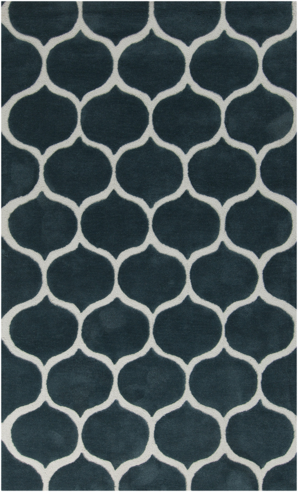Surya Mamba MBA-9020 Teal Blue Area Rug Clearance| Size| 18'' Returnable Sample Swatch - 88577x1