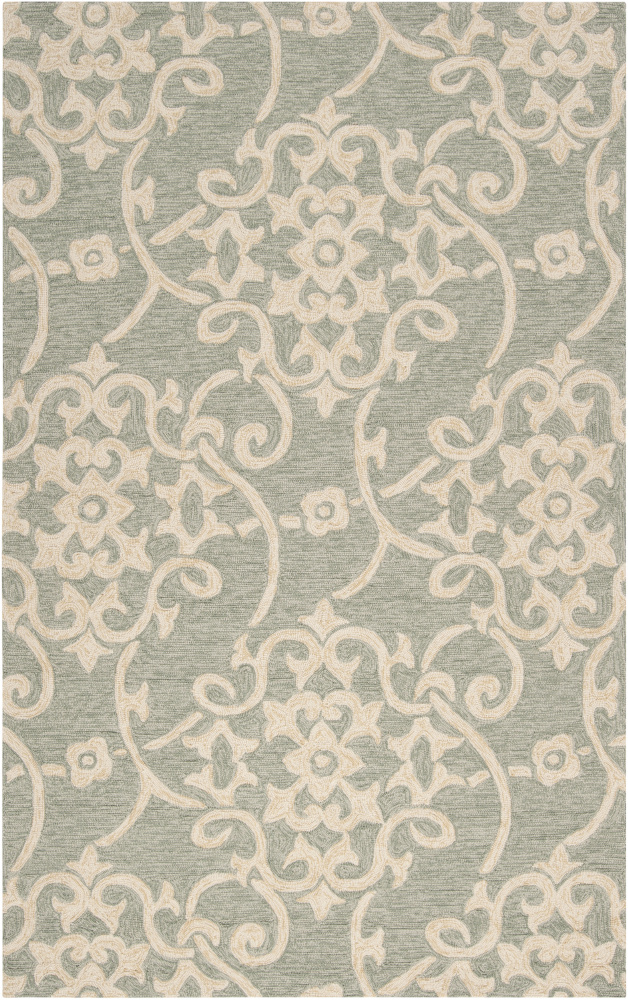 Surya Rain RAI-1103 Malachite Green Area Rug| Size| 18'' Returnable Sample Swatch - 65690x7