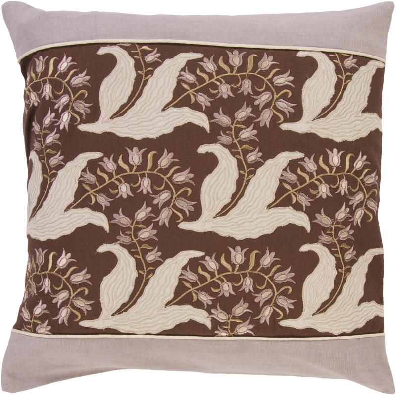 Surya Pillows SI-2003 Chocolate-Taupe Clearance| Size| 18'' x 18'' Polyester Filled - 62596x2