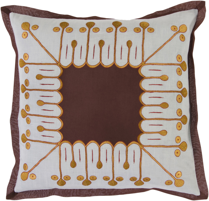 Surya Pillows SI-2014 Chocolate-Slate Clearance| Size| 18'' x 18'' Polyester Filled - 62600x2