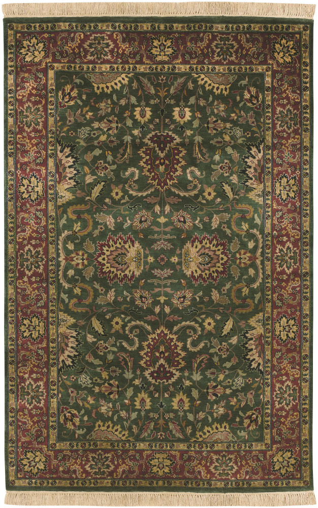 Surya Taj Mahal Tj-837 Green - Red Area Rug Clearance| Size| 8' Square - 136915x5