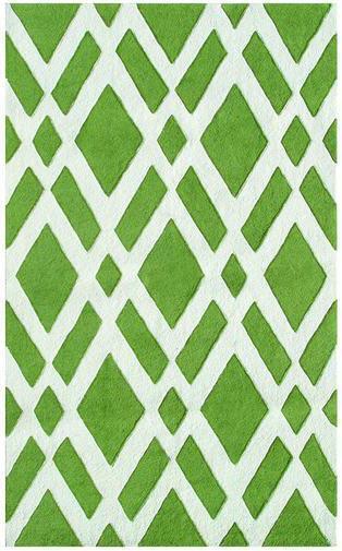 Rugstudio Sample Sale 53200R Green-cream Area Rug Last Chance| Size| 5X8 - 53200rx3