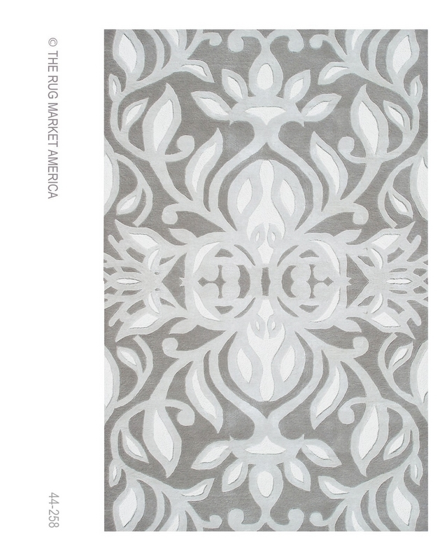 The Rug Market America Rexford Antionette Gray 44258 Grey-silver-white Area Rug| Size| 5X8 - 53139X1