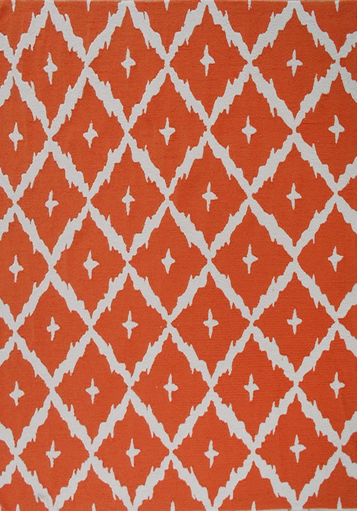 The Rug Market America Pop Accents Tangier Orange-White Area Rug| Size| 7 x 10 - 101452x2