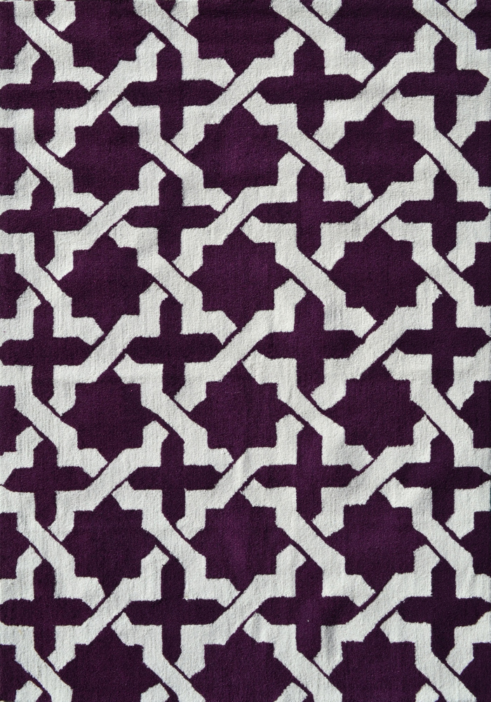 The Rug Market America Pop Accents Etchy Aubergine-White Area Rug| Size| 5 x 7 - 101435x1