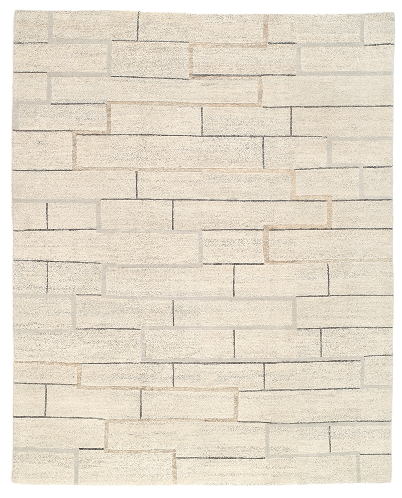 Tufenkian Lama Construct Neutral Area Rug| Size| 2' X 3' - 81326x1