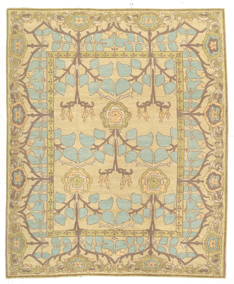 Ardour Carpets Hand Knotted 81435 Area Rug| Size| 3' X 5' with Free Pad - 81435x1